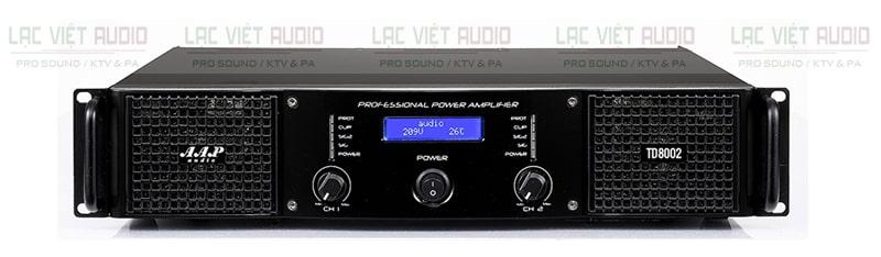 Cục đẩy công suất AAP TD8002 sở hữu thiết kế đẹp mắt, hiện đại