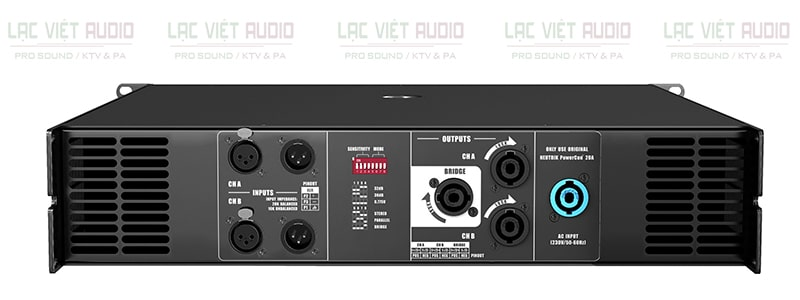 Cục đẩy công suất AudioCenter ACP6.0 mặt sau