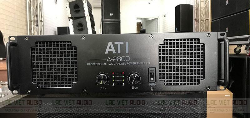 Cục đẩy công suất ATI 2800 sở hữu thiết kế mạnh mẽ, hiện đại