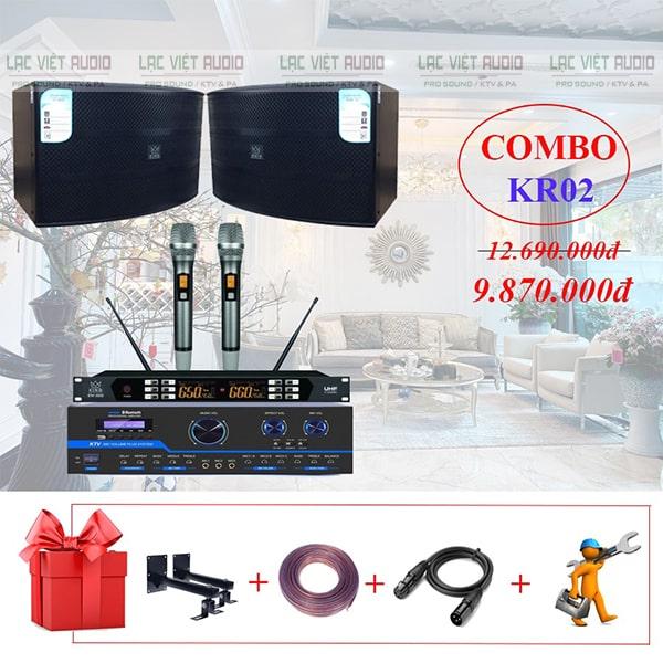 Combo dàn karaoke gia cho gia đình KR02 vô cùng chất lượng với giá cực sốc