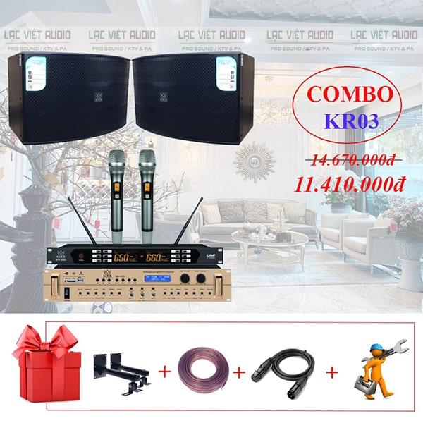 Dàn karaoke gia đình KR03 chất lượng cao với mức giá phải chăng