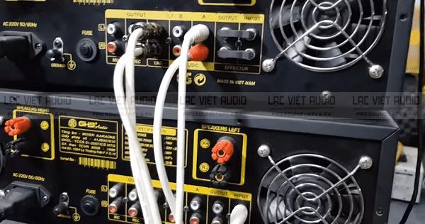 Hoàn thành cách kết nối 2 amply với nhau