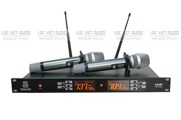 Micro không dây King EW100 là một thiết bị không thể thiếu của dàn karaoke KR04