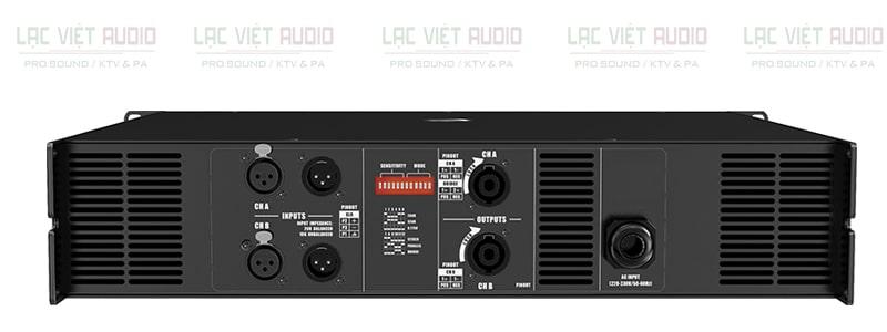 Cục đẩy công suất Audiocenter MVP8000 mặt sau