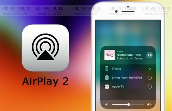 Phát 2 loa bluetooth cùng lúc iphone qua airplay 2
