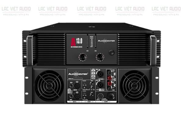 Cục đẩy công suất Audiocenter A13.0 mặt trước và sau