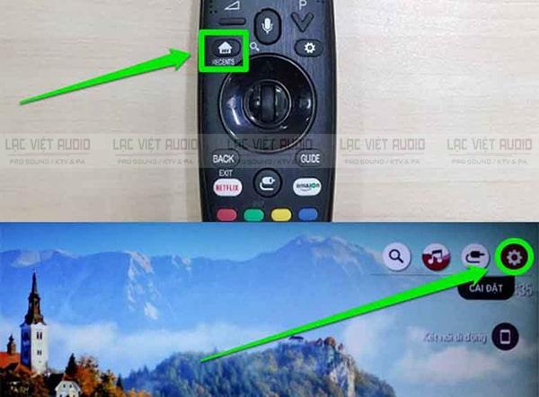 Cách kết nối micro không dây với tivi LG