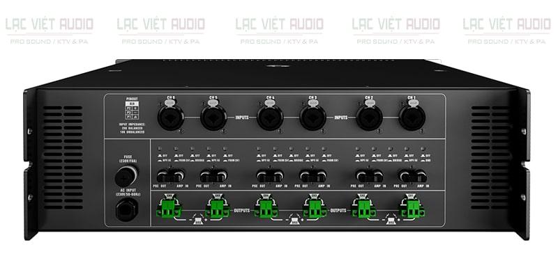 Cục đẩy công suất Audiocenter MX6200 mặt sau