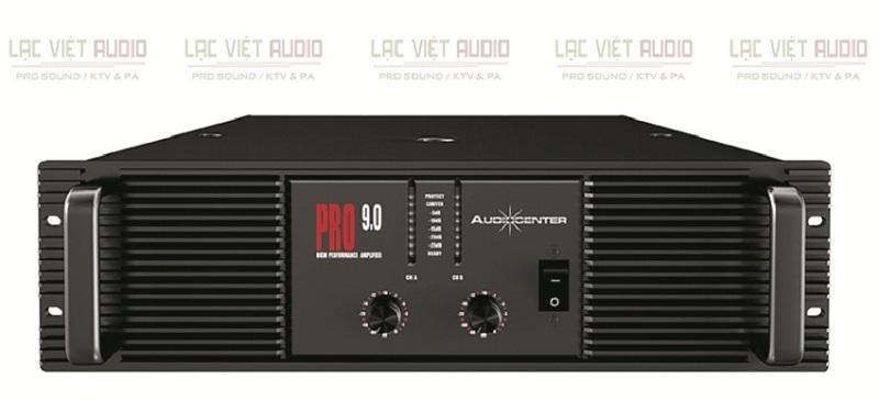 Cục đẩy công suất Audiocenter PRO9.0 sở hữu thiết kế mạnh mẽ, chắc chắn