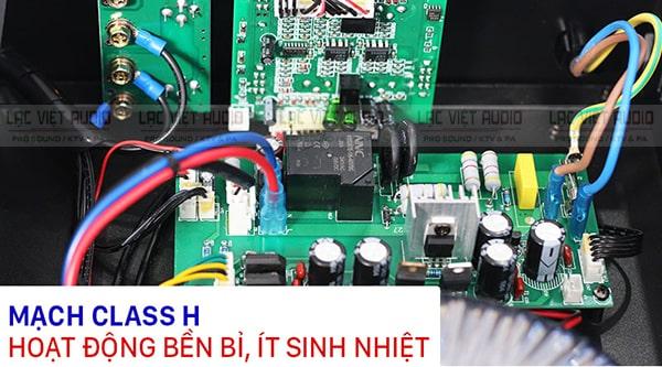 Cục đẩy công suất BIK VM 620A sử dụng mạch class H cho hiệu suất cao