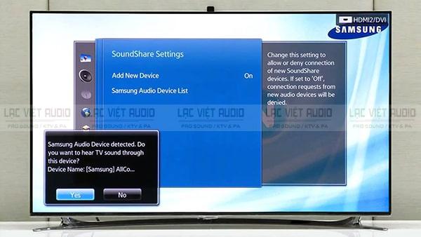Các kết nối micro không dây với tivi Samsung