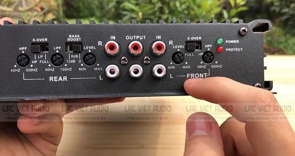 Cục đẩy mini 12V có đầy đủ các cổng kết nối
