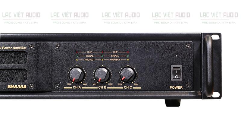 Mặt trước BIK VM 830A có 3 điều chỉnh bố trí khoa học