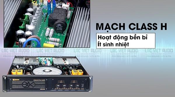 Cục đẩy BIK VM840A sử dụng mạch class H cho hiệu suất cao