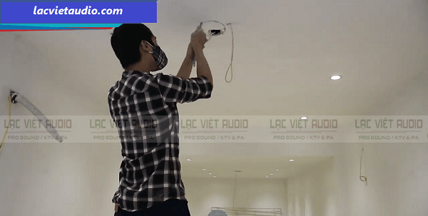 Hình ảnh thực tế Lạc Việt Audio lắp đặt loa âm trần Bosch LBC 3090/31