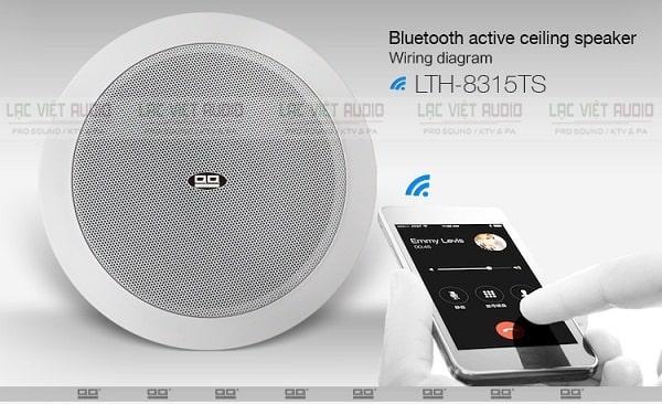 Loa âm trần bluetooth LTH 8315TS sử dụng công nghệ V4.0 cho sóng khoẻ