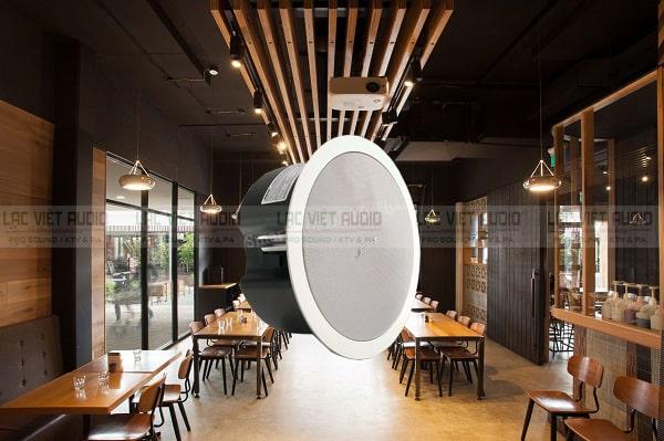 Loa âm trần Bose được sử dụng cho các quán cafe, phòng trà