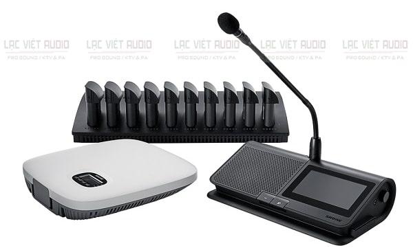 Âm thanh hội nghị Shure cần có bộ điều khiển trung tâm, micro và loa