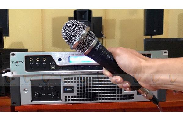 Cách chỉnh micro không dây hát nhẹ
