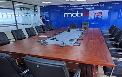 Lắp đặt âm thanh phòng họp Trung tâm mạng lưới Mobifone miền Bắc- Đài viễn thông Vĩnh Phúc