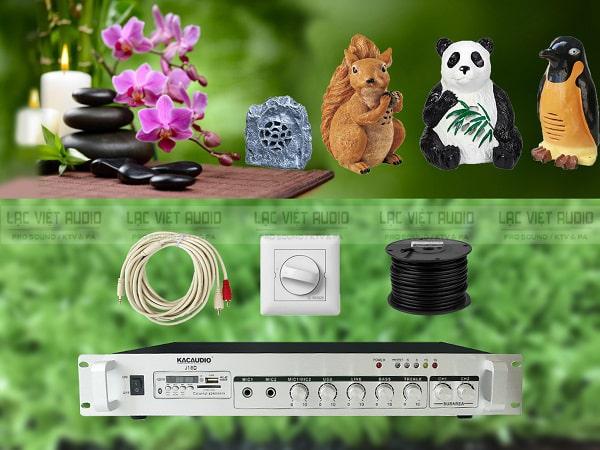 Những thiết bị cần sử dụng trong hệ thống như loa, amply, chiết áp, dây,...