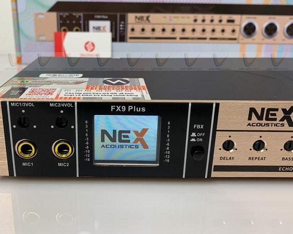Màn hình LCD hiển thị thông số của NEX FX9 Plus