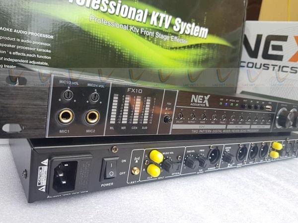 Vang NEX FX10 hỗ trợ nhiều cổng micro cho khách hàng