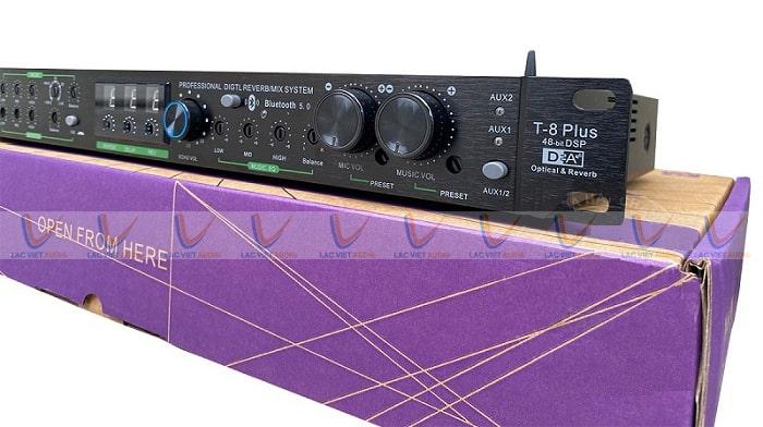 Phần vỏ ngoài của vang TD Acoustic T8 Plus làm từ kim loại cao cấp phủ sơn chống vân
