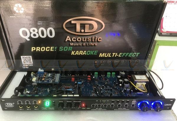 Vang cơ TD Q800 có khả năng chống hú rít tốt nhờ có mạch chống hú rời