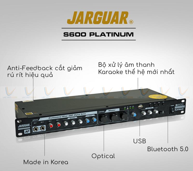 Vang cơ Jarguar S600 Platinum chính hãng nhiều tính năng vượt trội