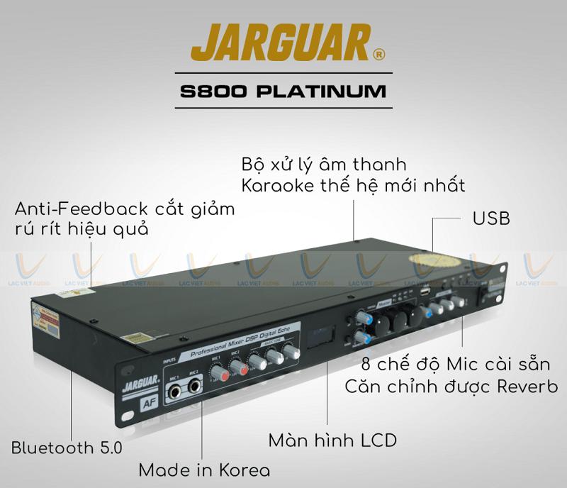 Vang cơ Jarguar S800 Platinum sở hữu nhiều tính năng nổi trội