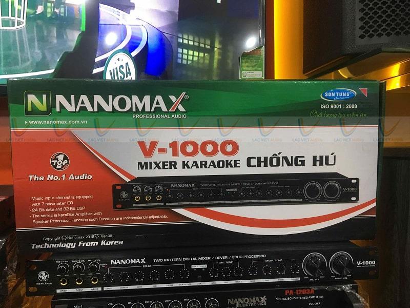 Nanomax V1000 cho chất âm thanh vượt trội, chống hú tốt