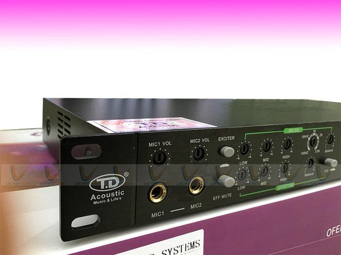 Vang cơ lai số TD Acoustic T8 trang bị công nghệ xử lý âm thanh tiên tiến chuyên nghiệp