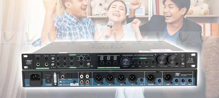 Vang cơ TD Acoustic T8 được sử dụng phổ biến trong các dàn karaoke gia đình