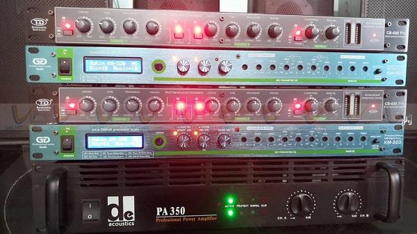 Vang cơ lai số Gutin KM-320 có khả năng tương thích tốt với các thiết bị âm thanh khác