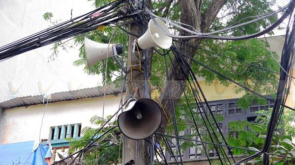 Loa phát thanh gây ồn cho khu vực dân cư sinh sống