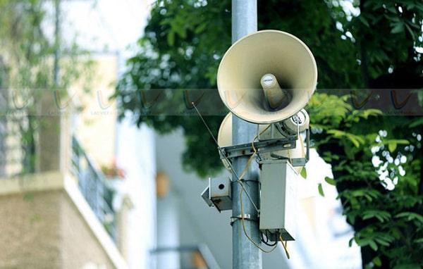 Quy định về loa phát thanh ở khu vực thành thị