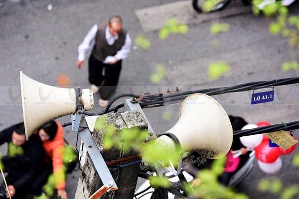 Sử dụng loa phát thanh phường xã có thể gây ô nhiềm tiếng ồn