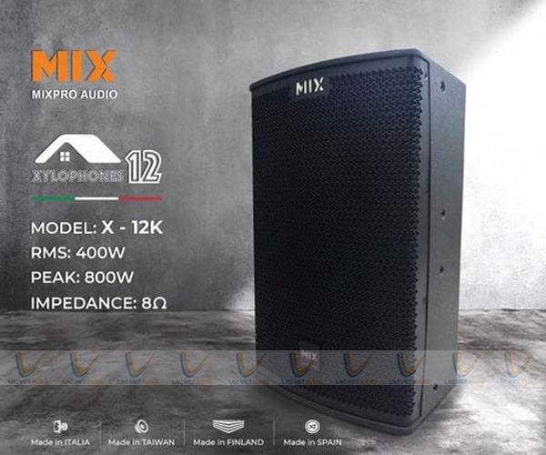 Loa karaoke MIX có thiết kế hiện đại, sang trọng phù hợp với nhiều không gian